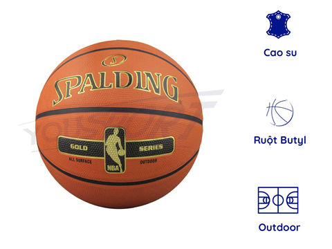 Quả Spalding NBA Gold Rubber S7