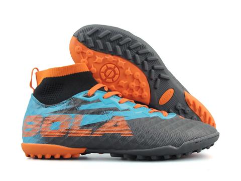 Giày bóng đá Jogarbola 9018 TF Đen Xanh