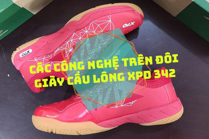Các công nghệ trên đôi giày cầu lông XPD 342 vừa lên kệ của Yousport.vn