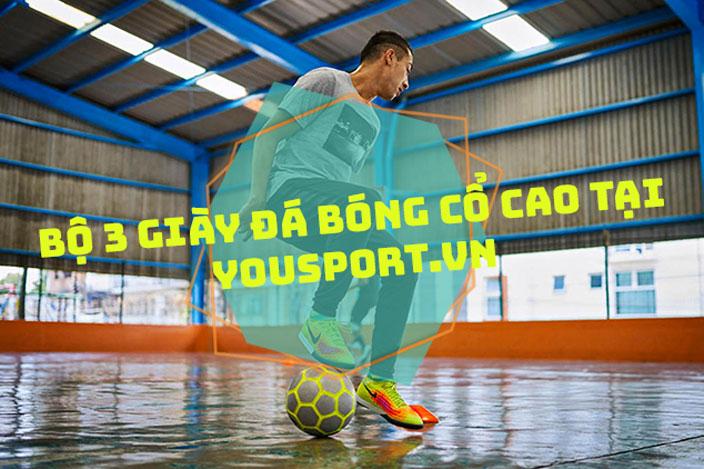 Bộ 3 giày đá bóng cổ cao tại Youport.vn