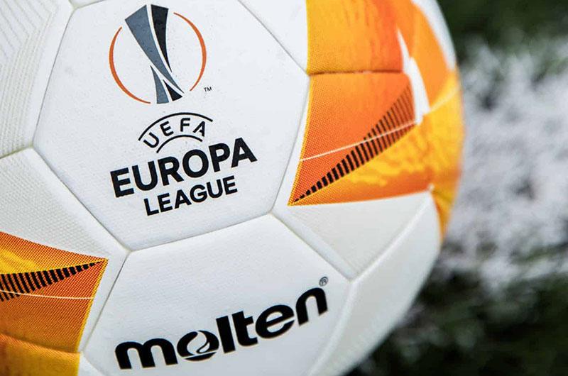 Logo Europa League và tên thương hiệu Molten nổi bật