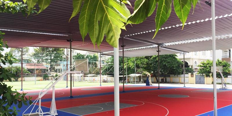 Sân bóng rổ trung tâm TDTT Lam Sơn