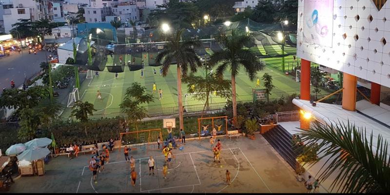 Sân bóng rổ nhà thiếu nhi Q.10