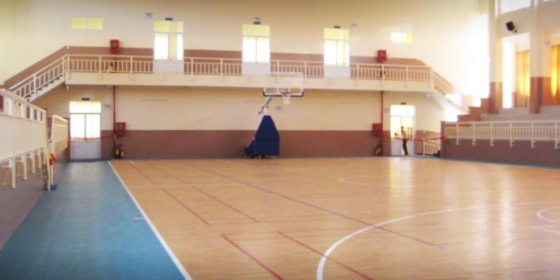 Sân bóng rổ trường THPT Nguyễn Thượng Hiền