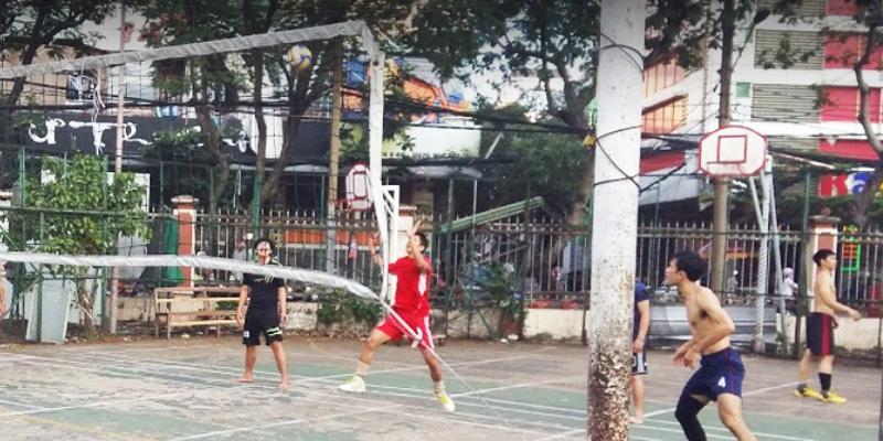 Sân bóng rổ công viên Bàu Cát