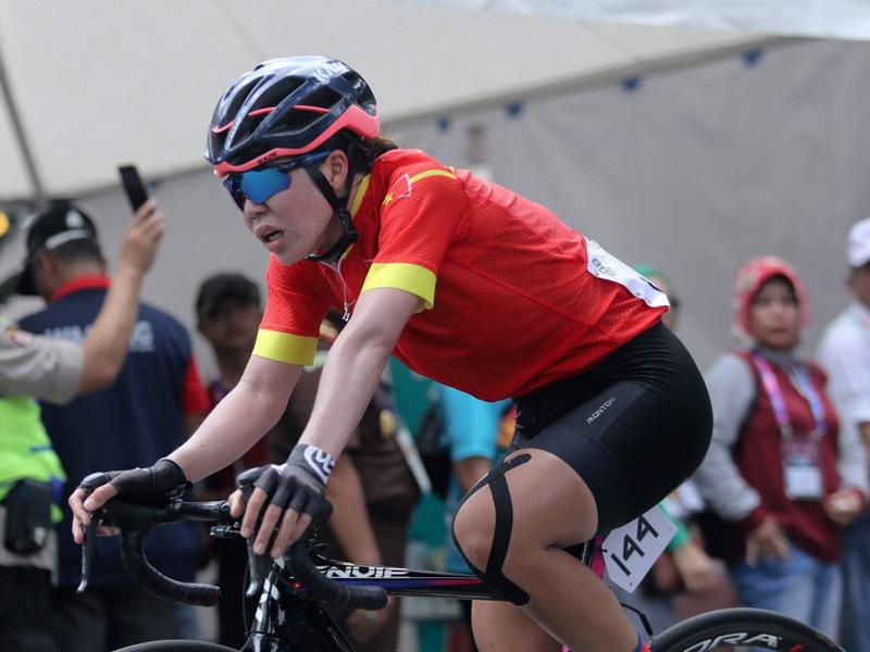 VĐV Nguyến Thị Thật bộ môn Xe đạp SEAGAME 2019