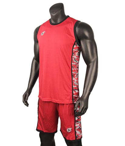 Quần áo bóng rổ Camo Đỏ