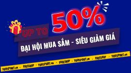 sale up to 50% toàn bộ sản phẩm